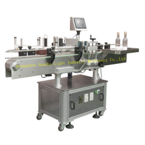Auto Vertical Bottle Labeller for Round Bottle Labeling pictures & photos