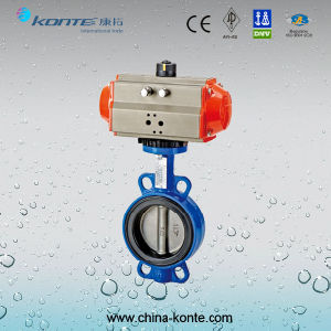 Pneumatic Wafer Butterfly Valve, Cast Iron Butterfly Valve pictures & photos