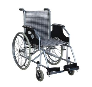 Medical Equipment Economy Steel Wheelchair 6-22 pictures & photos