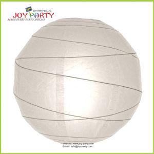 White Irregular Ribbed Round Paper Lanterns pictures & photos