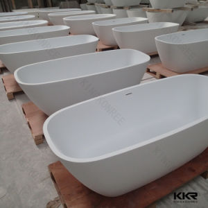 Man Made Stone White Solid Surface 48 Inch Free Standing Bathtub pictures & photos
