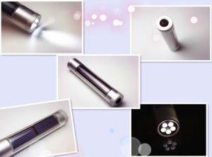 5 LED High-Quality Aviation Aluminum Alloy Solar Flashlight (JX-SF009-2) pictures & photos