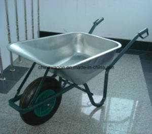 Concrete Wheelbarrow with Galvanized Tray for Middle East Market pictures & photos