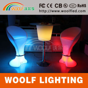 RGB Colorful LED Light Glow Plastic Bar Stools pictures & photos