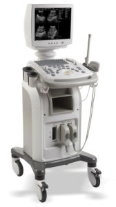 Med-B-Ss-500 Trolley Digital B/W Ultrasound Scanner pictures & photos