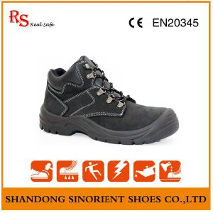 Waterproof Nubuck Leather Black Hammer Safety Shoes RS151 pictures & photos