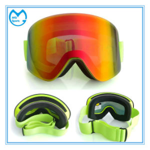 Photochromic Anti Shock Ski Mask Safety Goggles with Wide Bands pictures & photos