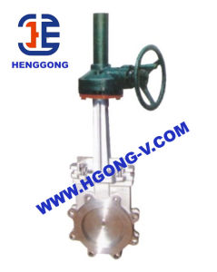 DIN Gear Cast Steel/Stainless Steel 304 Lug Knife Gate Valve