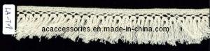 Stylish 100% Cotton Crochet Tassel Design Lace (LA-T09)