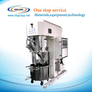 30 Liter Tri-Shaft Planetary Vacuum Mixer with Vacuum Pump and PLC Touch Panel Control, Sfm-10m pictures & photos