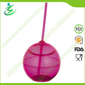 500 Ml as Ball-Shape Acrylic Cup with Straw (TB-A5) pictures & photos