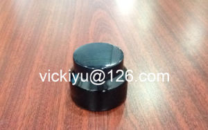 30g Black Cream Glass Jars, Puple Black Glass Container for Cosmetics, Violet Black Glass Cream Containers with Black Alu Cap