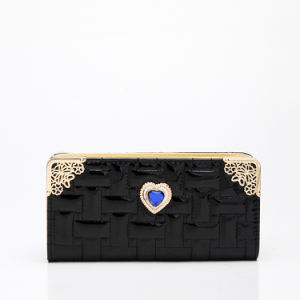 Black Heart Fashion Lady Purse Wallet (MBNO037153) pictures & photos