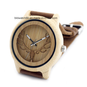 Unisex Deer Face Bamboo Wooden Wrist Watches Hot Sale 2017 pictures & photos