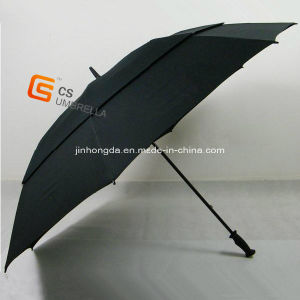 Fiberglass Frame Windproof Golf Umbrella (YS-G1001A) pictures & photos