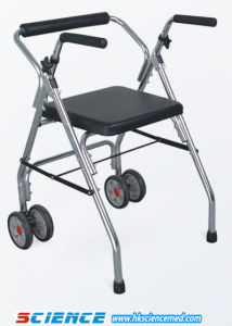 Aluminum Foldable Walker with Seat and Wheel (SC-WK13(A)) pictures & photos