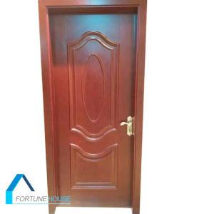 Molded Raised/Convex Line Design HDF Veneered Door 2000mm-2150mm pictures & photos