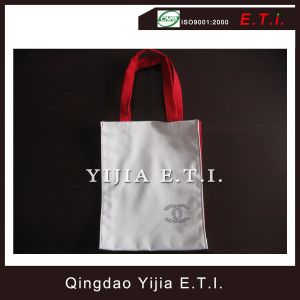 Eco Friendly Cotton Tote Bag with Red Handles pictures & photos
