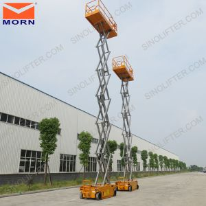 Self Propelled Scissor Lift Work Platform for Cleaning Window pictures & photos