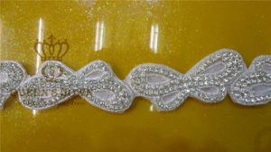 Crystal Applique Lace Trimming Beaded Pearl Decorative for Wedding Dress pictures & photos