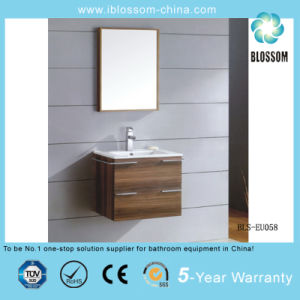 Wall-Hung MDF Bathroom Cabinet, Bathroom Furniture (BLS-EU058) pictures & photos
