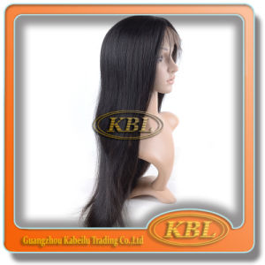 Quality Silk Top Italian Yaki Full Lace Wig for White Women pictures & photos