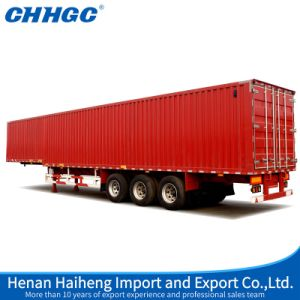 Chhgc 3 Axles Van Type Semi Trailer with Gooseneck pictures & photos