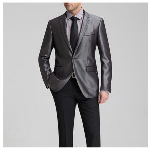Bespoke Black Solid Color Business Suits & Tuxedo pictures & photos