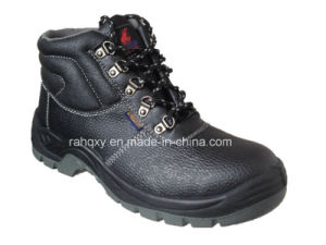 Black Five Buckles MID-Cut Safety Shoes (HQ648) pictures & photos