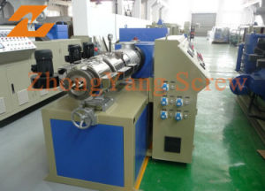 Twin Conical Screw Extruder for PVC Pipe Sheet Profile pictures & photos
