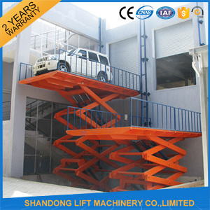 Hydraulic Scissor Car Lift for Parking pictures & photos