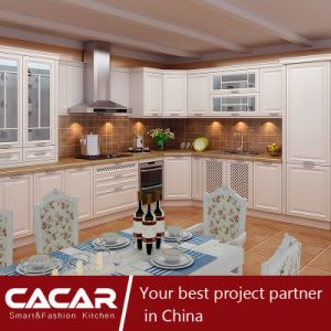 Victoria Elegant Time White Plastic Uptake PVC Kitchen Cabinet (CA15-02) pictures & photos