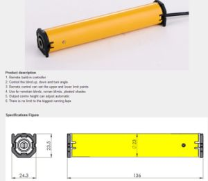 Hy23by-D DC Venetian Blind Motor pictures & photos