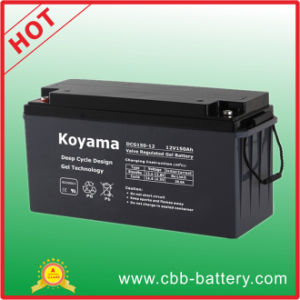 Golf/ Utility/ Electric Vehicle Deep Cycle Gel Battery 150ah 12V pictures & photos