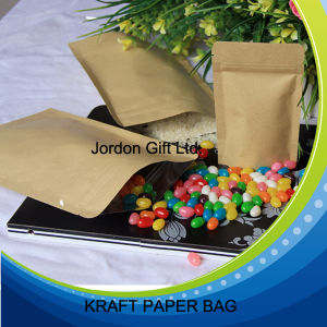Food Grade Brown Kraft Stand up Zippper Pouch pictures & photos