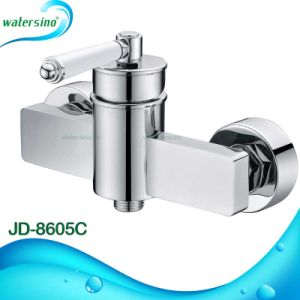 Brass Classic Shower Mixer with Marble Handle pictures & photos