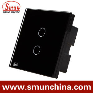 2 Gang Wall Touch Switch, Remote Control Switch ABS Fireproof 1500W pictures & photos