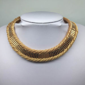 Gold Plated Braided Chain Simple Style Fashion Jewelry (XJW13692) pictures & photos