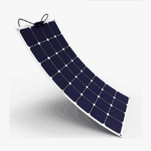 High Efficiency Sunpower Cell Semi Flexible Solar Panel 100W 18V