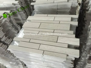 Wall Tile Strip Marble White Wood Mosaic pictures & photos
