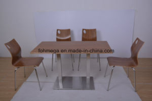 Restaurant Furniture HPL Tables Chairs for 4 People (FOH-NCP15-10) pictures & photos