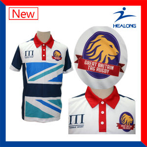 Custom Sublimation High Quality Golf Mens Polo Shirt Jersey pictures & photos