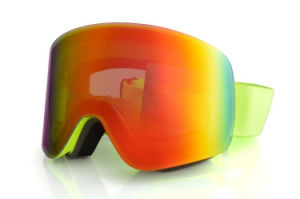 Light Coated Skiing Mask Snow Glasses with Elastic Wide Band pictures & photos