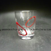 Hand Made Glass Tumbler with Solid Red Color (B-C07) pictures & photos
