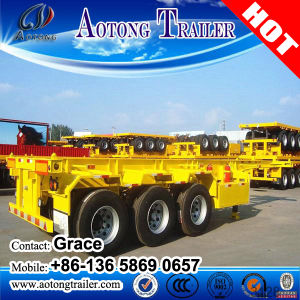 20 Feet 40 Feet Skeleton Semi Trailer, Skeletal Semi Trailer, Skeleton Container Carrier pictures & photos