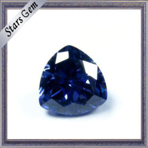 Trilliant Cut Tanzanite Blue Color CZ Gemstone pictures & photos