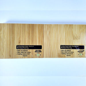 Solid UV Lacquer Vertical Carbonized Bamboo Flooring pictures & photos