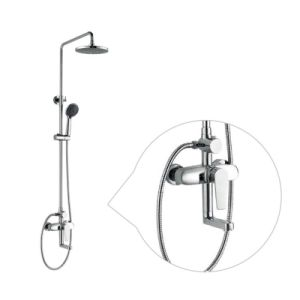 2017 New Design Chinese Blue-and-White Ceramic Single Handle GS-057 Brass Rain Shower Set pictures & photos