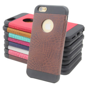 China Factory Mobile/Cell Phone Plastic PU+PC+TPU Cover Case for iPhone 6 pictures & photos