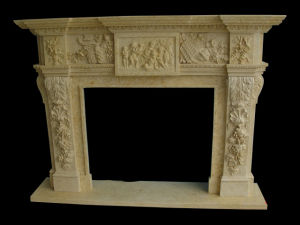Angel Relief Carving Fireplace (FRP335) pictures & photos